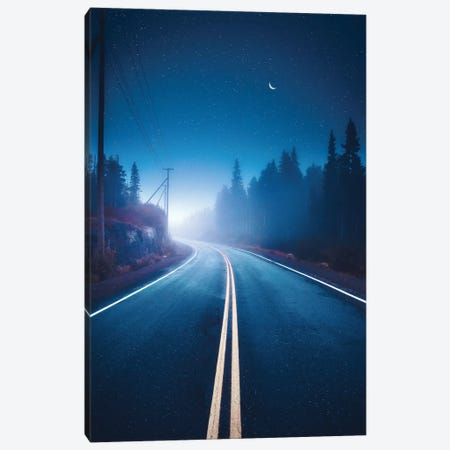 Moody Mountain Roads Canvas Print #ZDO3} by Zach Doehler Canvas Art Print