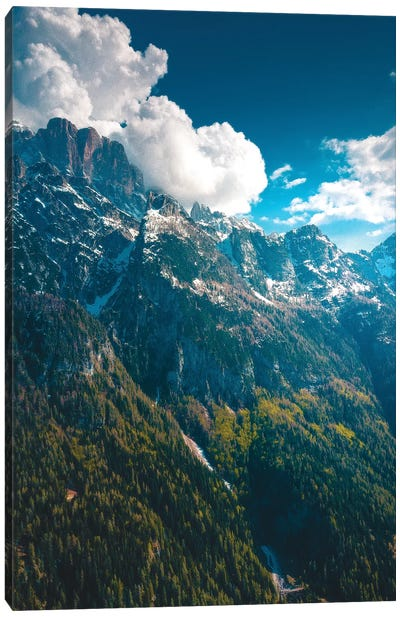 Daytime In The Dolomites Canvas Art Print