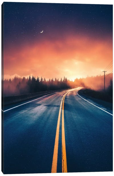 Driving Without A Destination Canvas Art Print