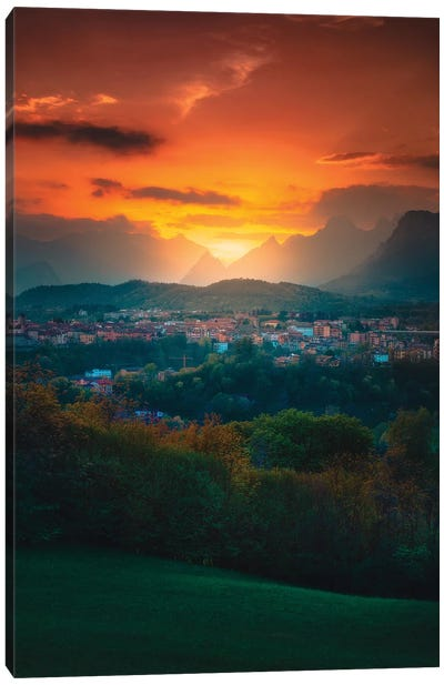 Dusk In The Dolomites Canvas Art Print