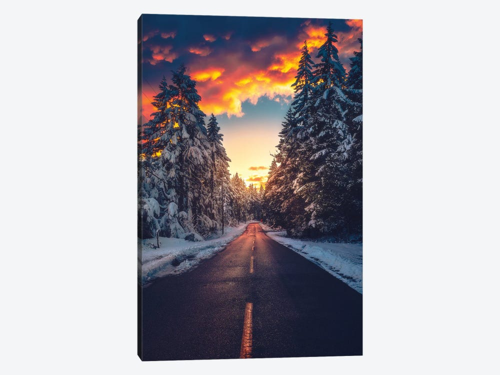 Fire And Ice by Zach Doehler 1-piece Canvas Artwork