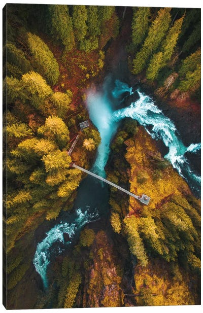 Flying Over The Falls Canvas Art Print