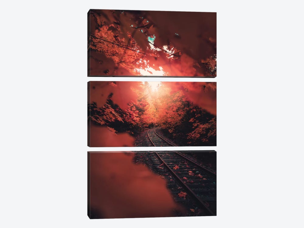 Autumn Express by Zach Doehler 3-piece Canvas Artwork