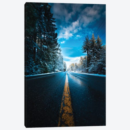 Frozen Roads Canvas Print #ZDO72} by Zach Doehler Art Print