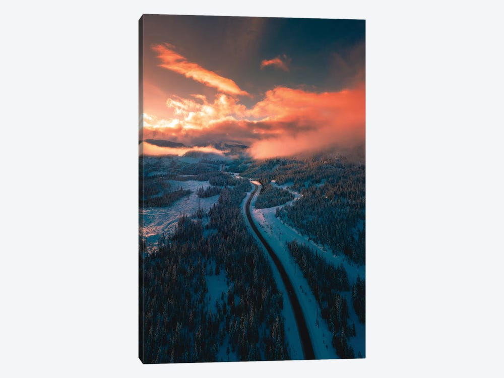 Mountain Sunsets by Zach Doehler 1-piece Canvas Art
