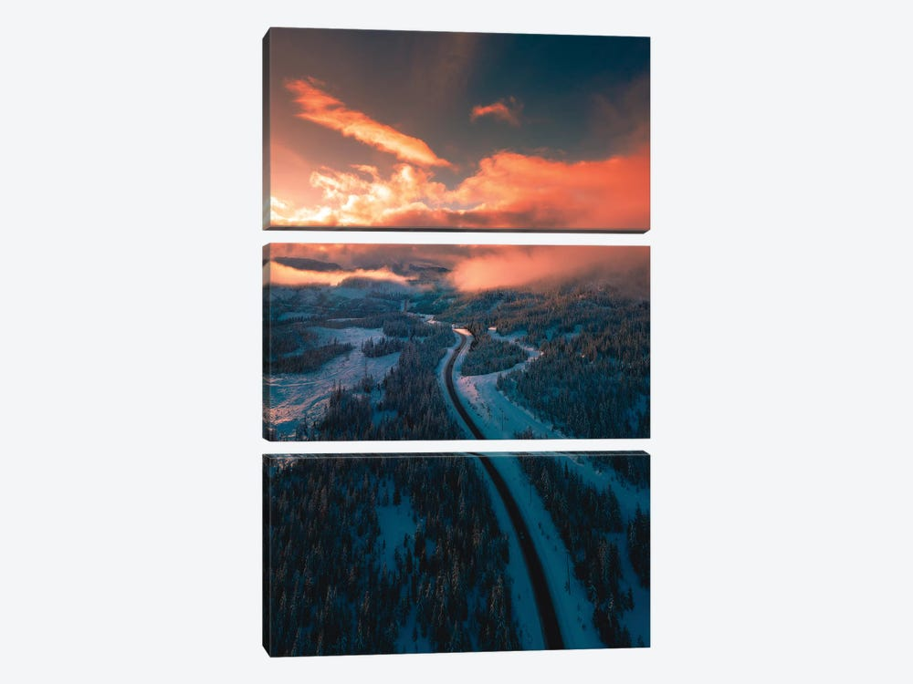 Mountain Sunsets by Zach Doehler 3-piece Canvas Art