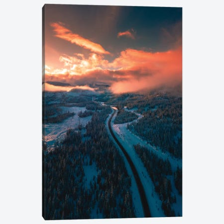 Mountain Sunsets Canvas Print #ZDO73} by Zach Doehler Canvas Art Print