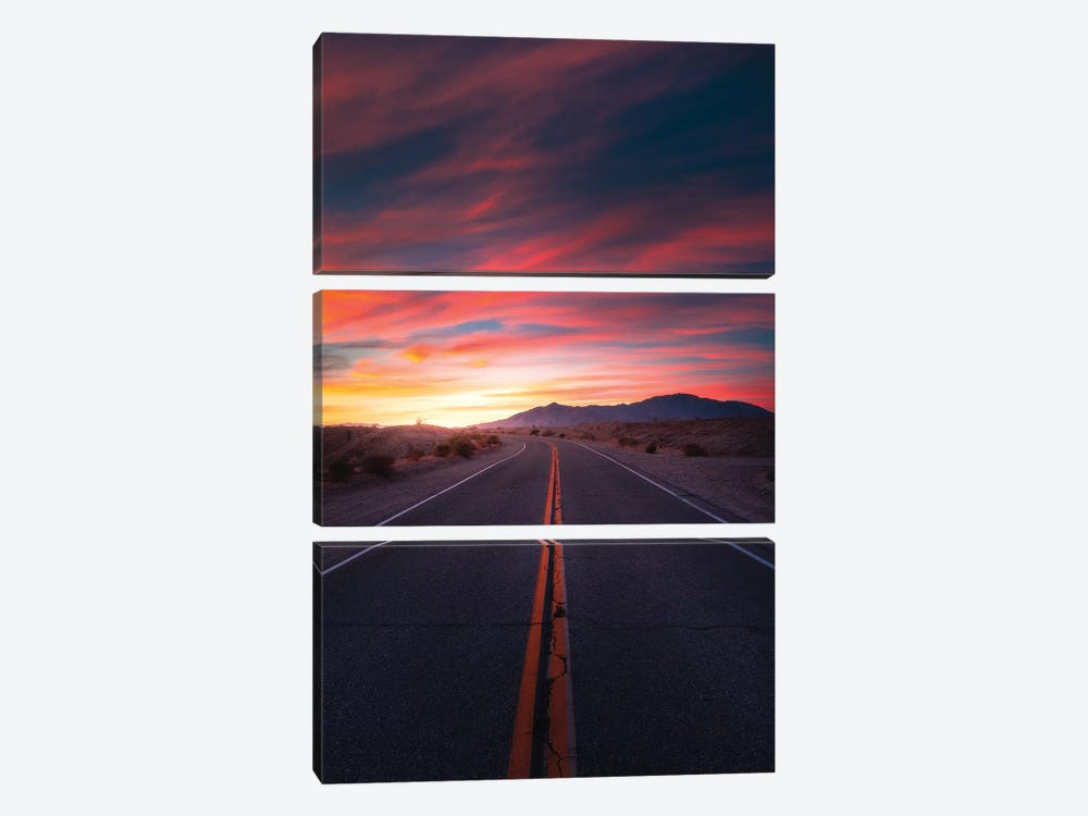 The Highway Of Colours 3-piece Art Print