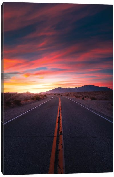 The Highway Of Colours Canvas Art Print