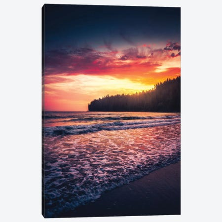 Oceanside Tranquility Canvas Print #ZDO7} by Zach Doehler Canvas Art