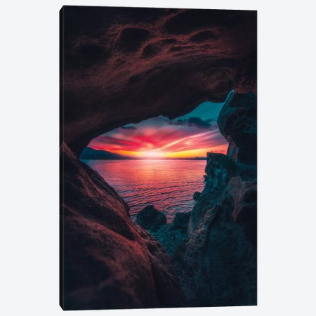 Seaside Caverns Canvas Print #ZDO96} by Zach Doehler Canvas Wall Art