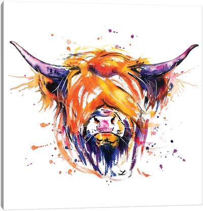 Scottish Highland Cow Canvas Art Print