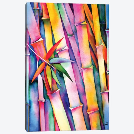 Seven Leaves Of Bamboo 3-Piece Canvas #ZDZ101} by Zaira Dzhaubaeva Canvas Artwork