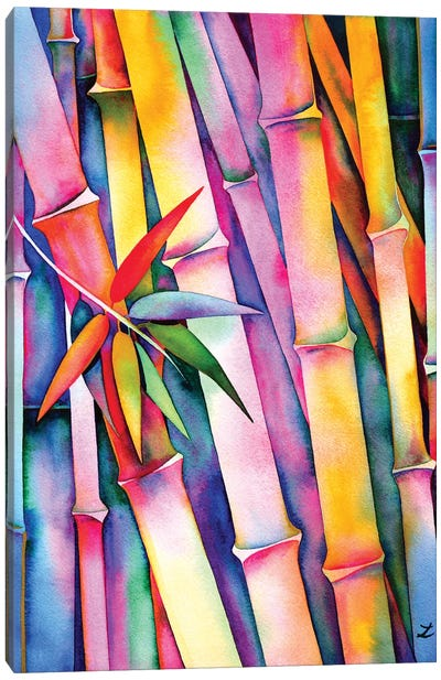 Seven Leaves Of Bamboo Canvas Art Print