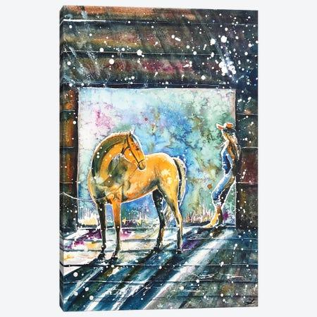 Summer Morning At The Barn Canvas Print #ZDZ105} by Zaira Dzhaubaeva Canvas Art Print
