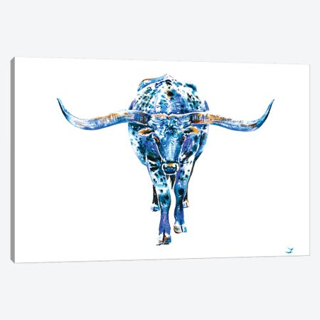 Texas Longhorn Canvas Print #ZDZ112} by Zaira Dzhaubaeva Art Print