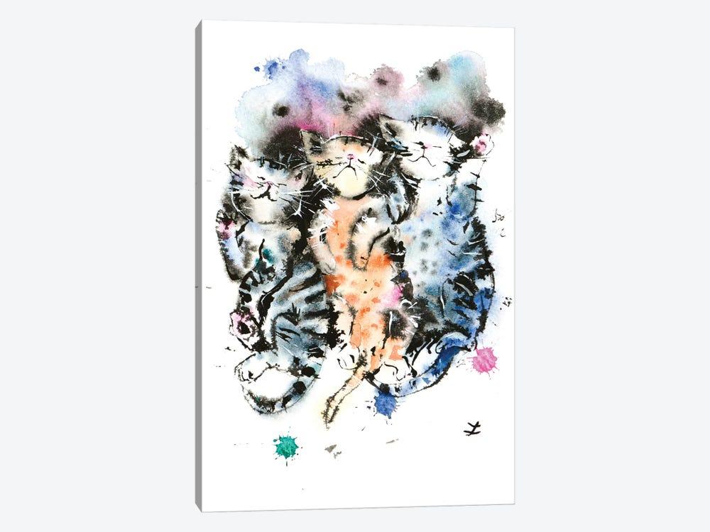Three Sleeping Kittens by Zaira Dzhaubaeva 1-piece Canvas Wall Art