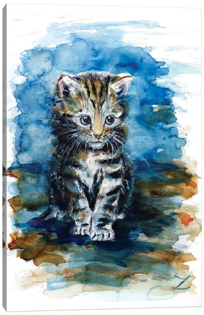Timid Kitten Canvas Art Print