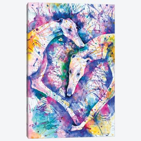 Transcendent Greyhounds Canvas Print #ZDZ119} by Zaira Dzhaubaeva Art Print