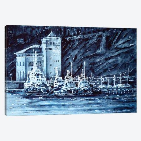 Tugboats 3-Piece Canvas #ZDZ120} by Zaira Dzhaubaeva Canvas Wall Art