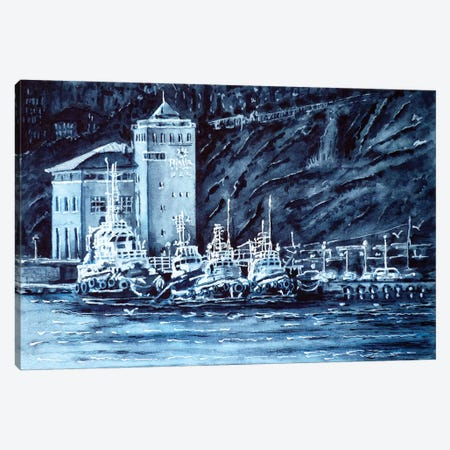 Tugboats Canvas Print #ZDZ120} by Zaira Dzhaubaeva Canvas Wall Art