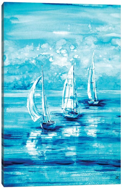 Turquoise Morning Canvas Art Print