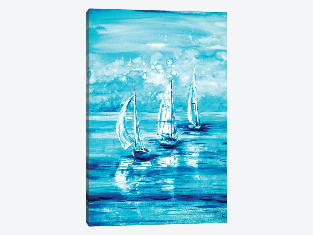 Turquoise Morning by Zaira Dzhaubaeva 1-piece Canvas Art