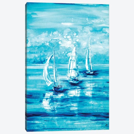 Turquoise Morning Canvas Print #ZDZ121} by Zaira Dzhaubaeva Canvas Art