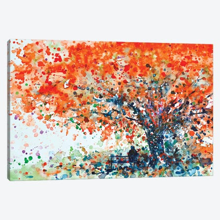 Under The Shade Of The Flamboyant Canvas Print #ZDZ122} by Zaira Dzhaubaeva Canvas Art