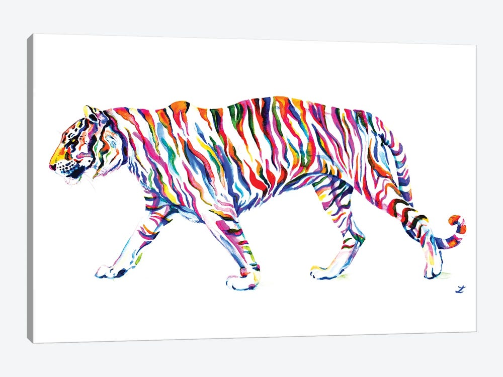 Walking Tiger by Zaira Dzhaubaeva 1-piece Canvas Art