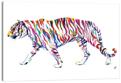 Walking Tiger Canvas Art Print