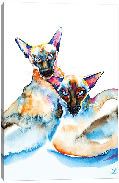 We Are Siamese Canvas Art Print