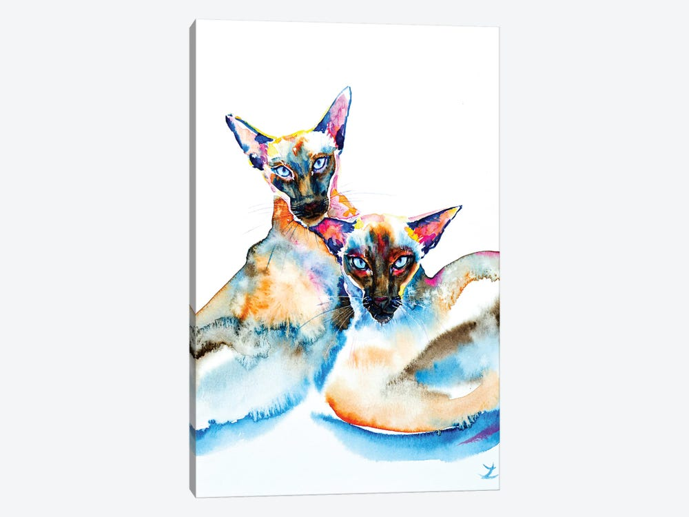 We Are Siamese by Zaira Dzhaubaeva 1-piece Canvas Art Print