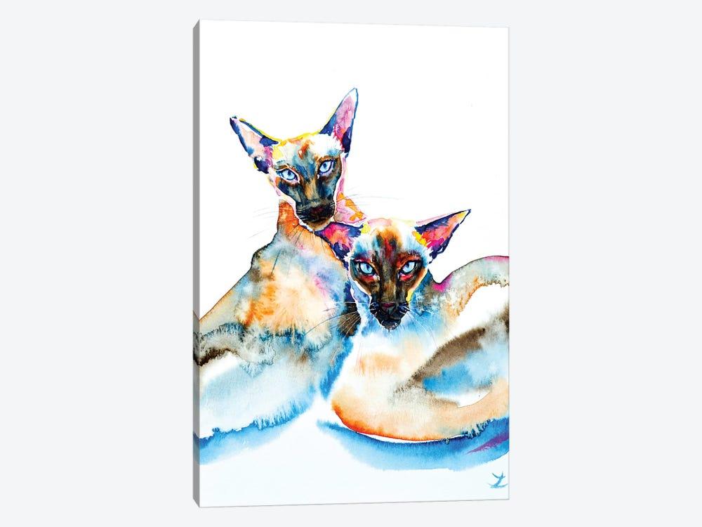 We Are Siamese by Zaira Dzhaubaeva 1-piece Canvas Art Print