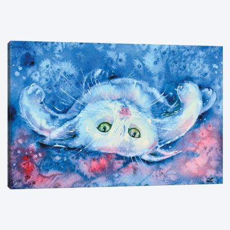 White Kitten Canvas Print #ZDZ127} by Zaira Dzhaubaeva Canvas Print