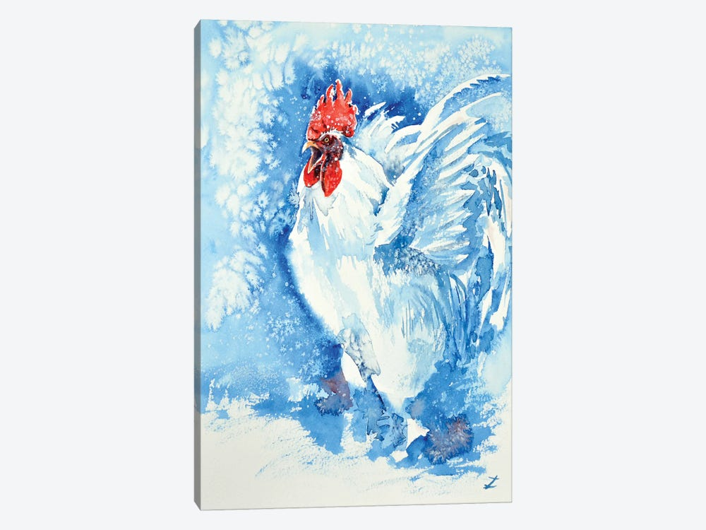 White Rooster 1-piece Art Print