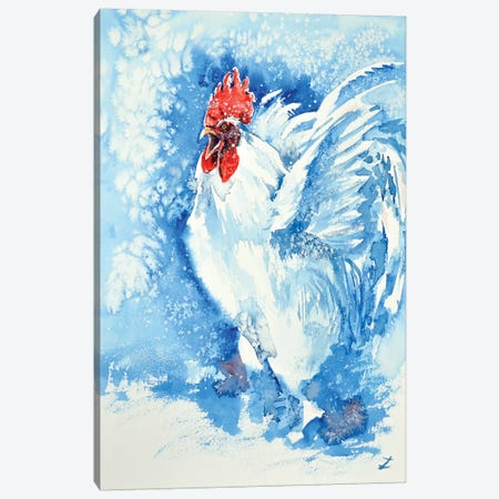 White Rooster 3-Piece Canvas #ZDZ128} by Zaira Dzhaubaeva Canvas Wall Art