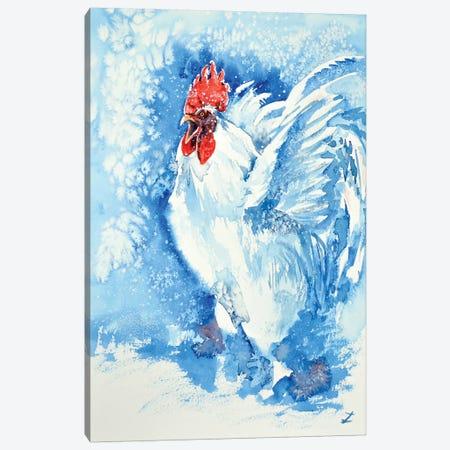 White Rooster Canvas Print #ZDZ128} by Zaira Dzhaubaeva Canvas Wall Art