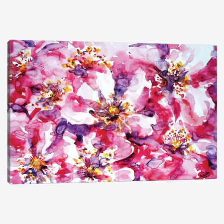 Wild Rose 3-Piece Canvas #ZDZ129} by Zaira Dzhaubaeva Canvas Wall Art