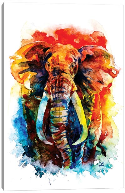 Wise Elephant Canvas Art Print