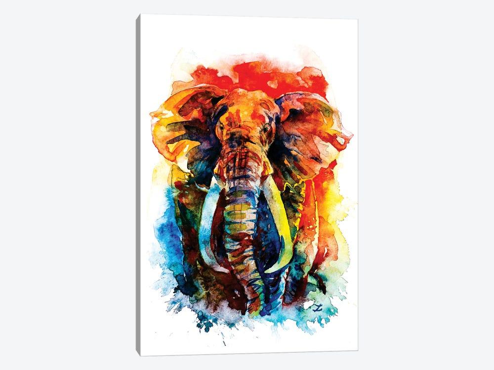 Wise Elephant by Zaira Dzhaubaeva 1-piece Canvas Artwork