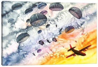 Airborne Dawn Watercolor   Canvas Art Print