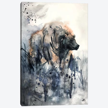 Bear Watercolor   Canvas Print #ZDZ135} by Zaira Dzhaubaeva Canvas Art