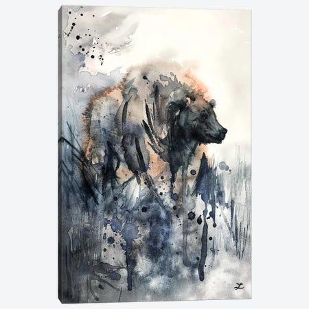 Bear Watercolor   Canvas Print #ZDZ135} by Zaira Dzhaubaeva Canvas Art