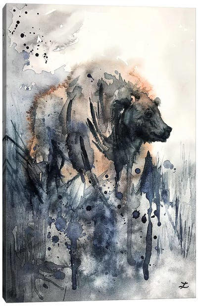 Bear Watercolor   Canvas Art Print