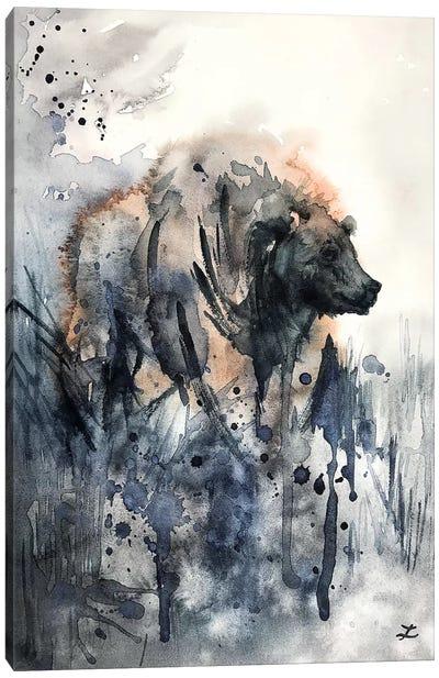 Bear Watercolor   Canvas Art Print