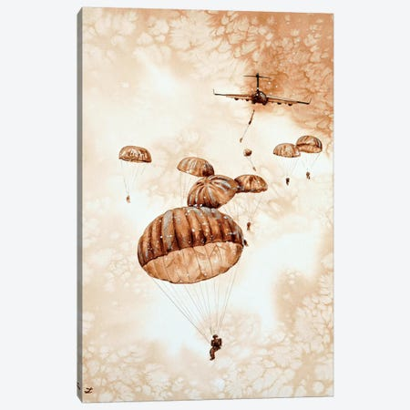 Canopies Over the Drop Zone  3-Piece Canvas #ZDZ137} by Zaira Dzhaubaeva Canvas Wall Art