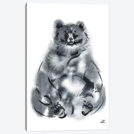 Funny Bear Watercolor   Canvas Print #ZDZ144} by Zaira Dzhaubaeva Art Print