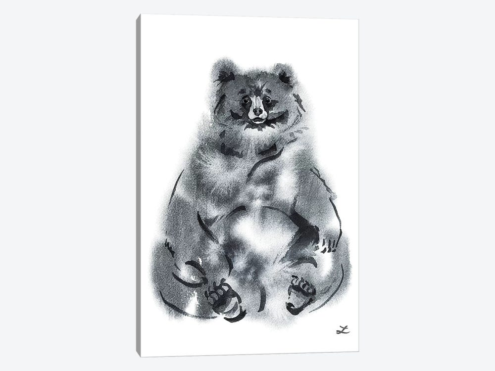 Funny Bear Watercolor   by Zaira Dzhaubaeva 1-piece Art Print