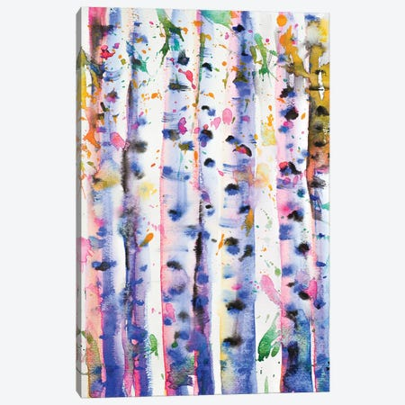 Birch Trees 3-Piece Canvas #ZDZ14} by Zaira Dzhaubaeva Canvas Art Print